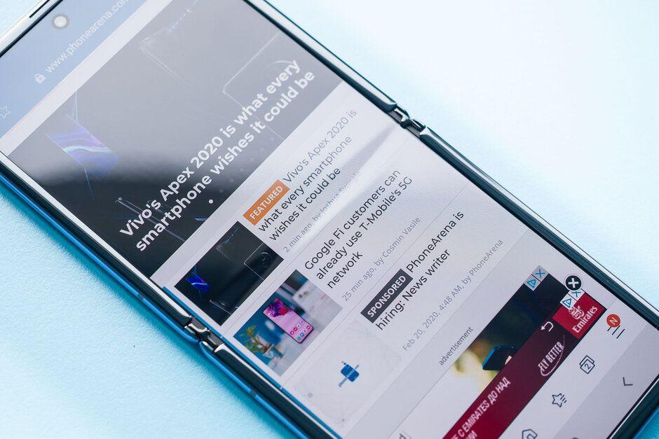 Экран Galaxy Z Flip