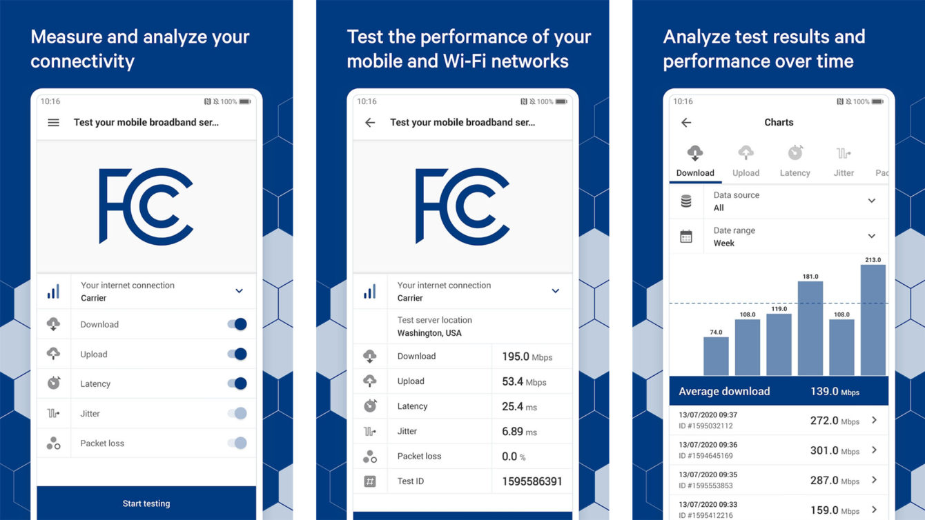 FCC Speed Test