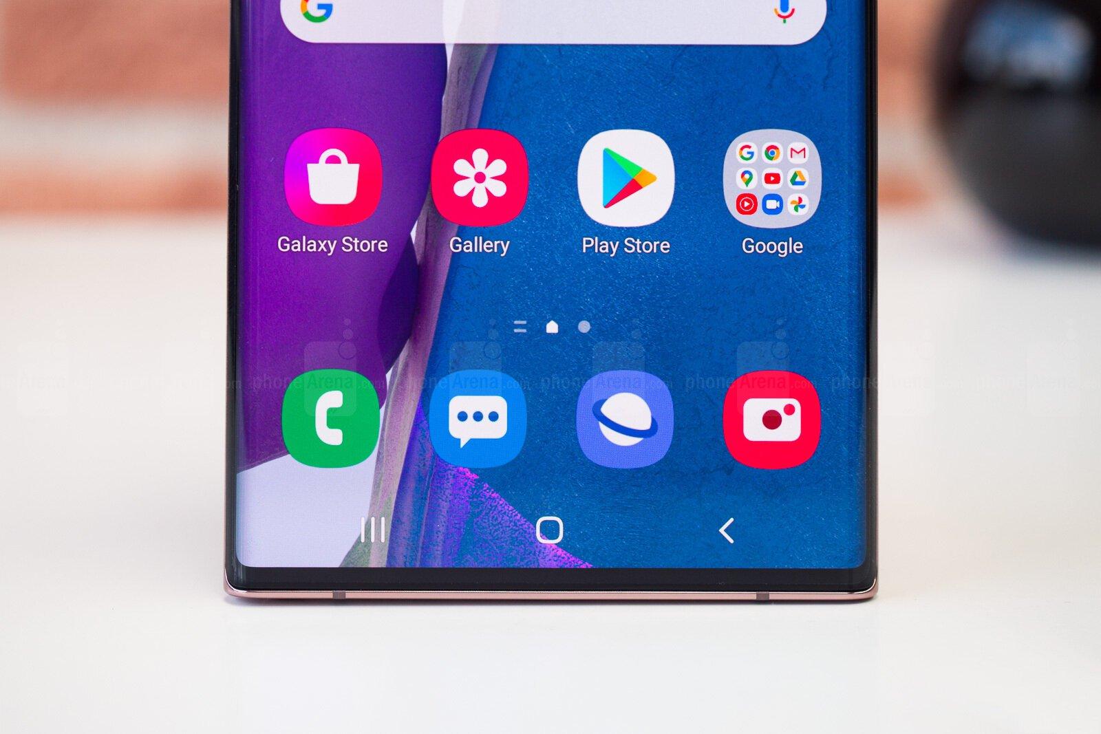 Низ экрана Galaxy Note 20 Ultra