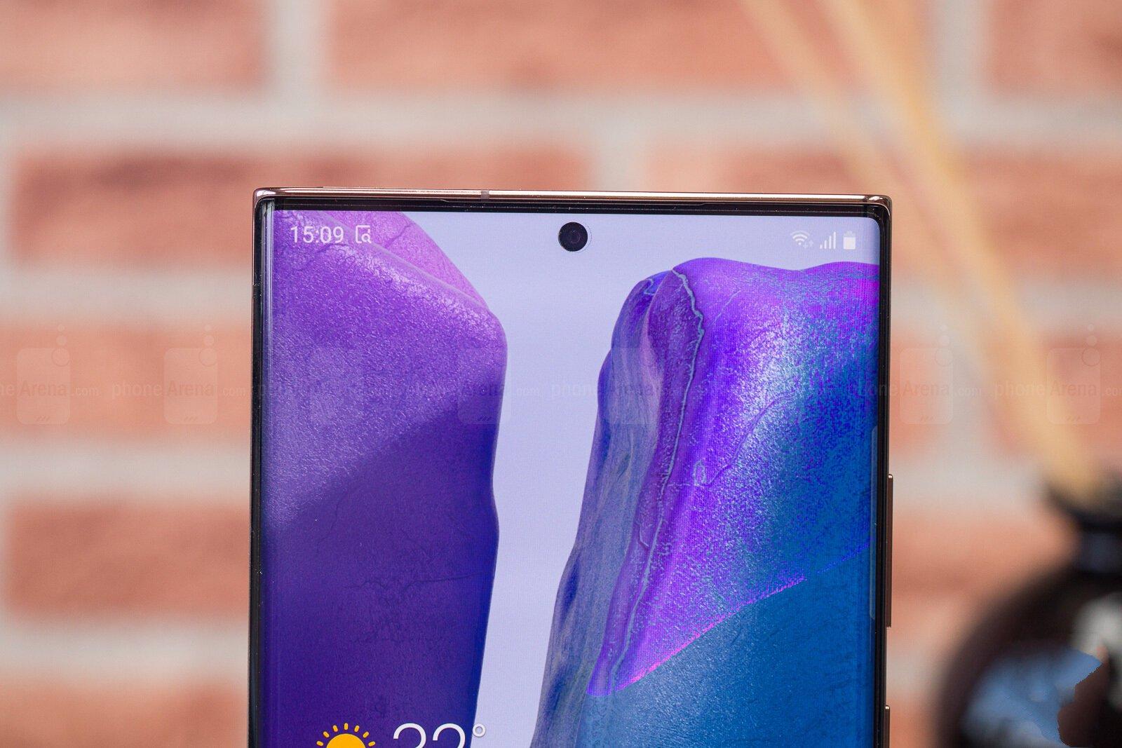 Верх экрана Galaxy Note 20 Ultra